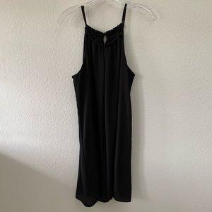 ZOUK black halter neck tie dress